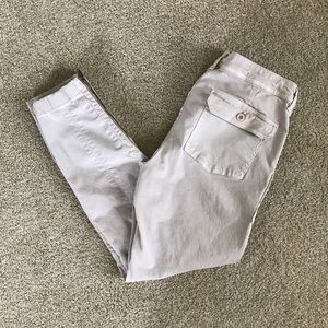 J. Crew Zip Ankle Stretch Jeans Skinny Flap Pocket